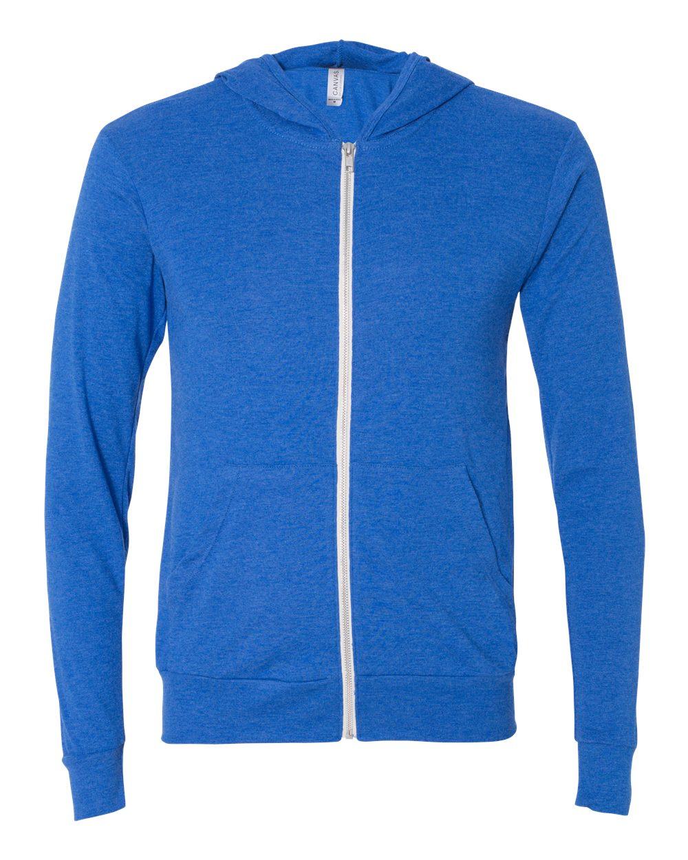 Bella-Canvas-Unisex-Triblend-Lightweight-Hooded-Full-Zip-T-Shirt-3939-upto-2XL thumbnail 36