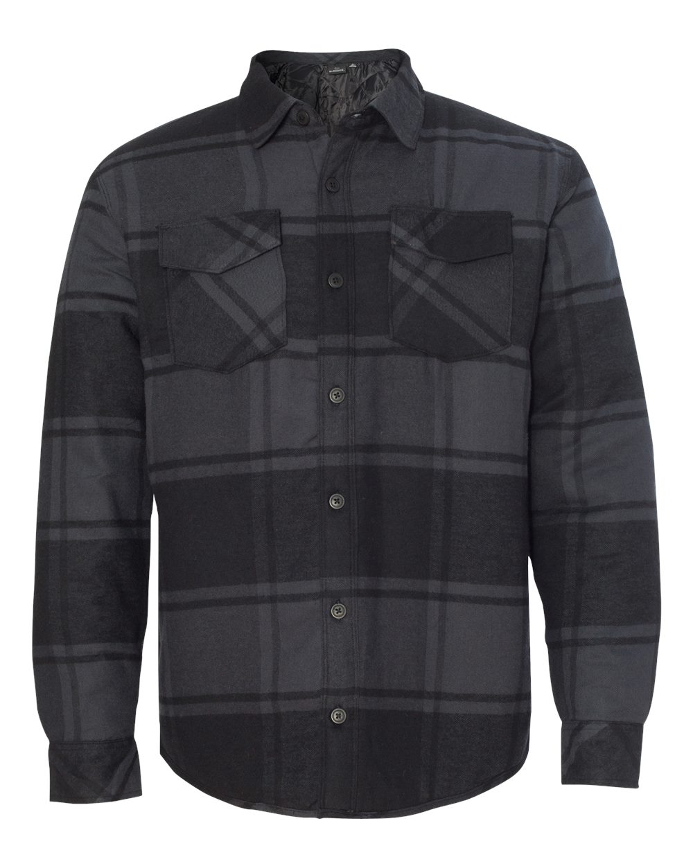 Burnside-Mens-Quilted-Flannel-Jacket-Shirt-8610-up-to-3XL thumbnail 6