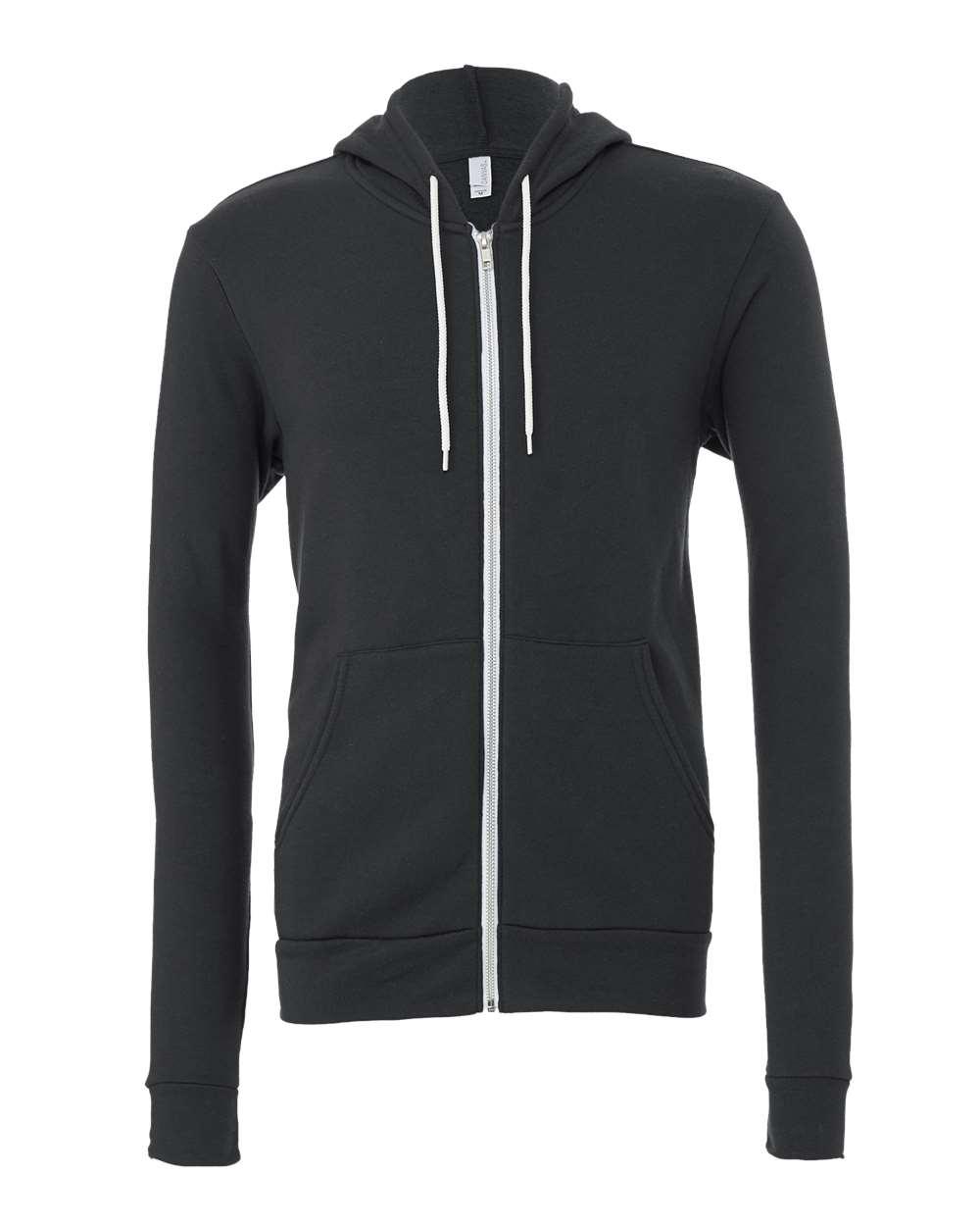Bella-Canvas-Unisex-Full-Zip-Up-Hooded-Sweatshirt-Blank-Hoodie-3739-up-to-3XL thumbnail 15