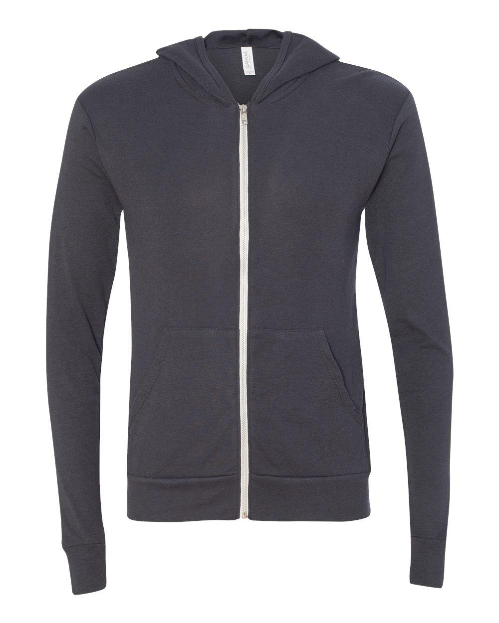 Bella-Canvas-Unisex-Triblend-Lightweight-Hooded-Full-Zip-T-Shirt-3939-upto-2XL thumbnail 30