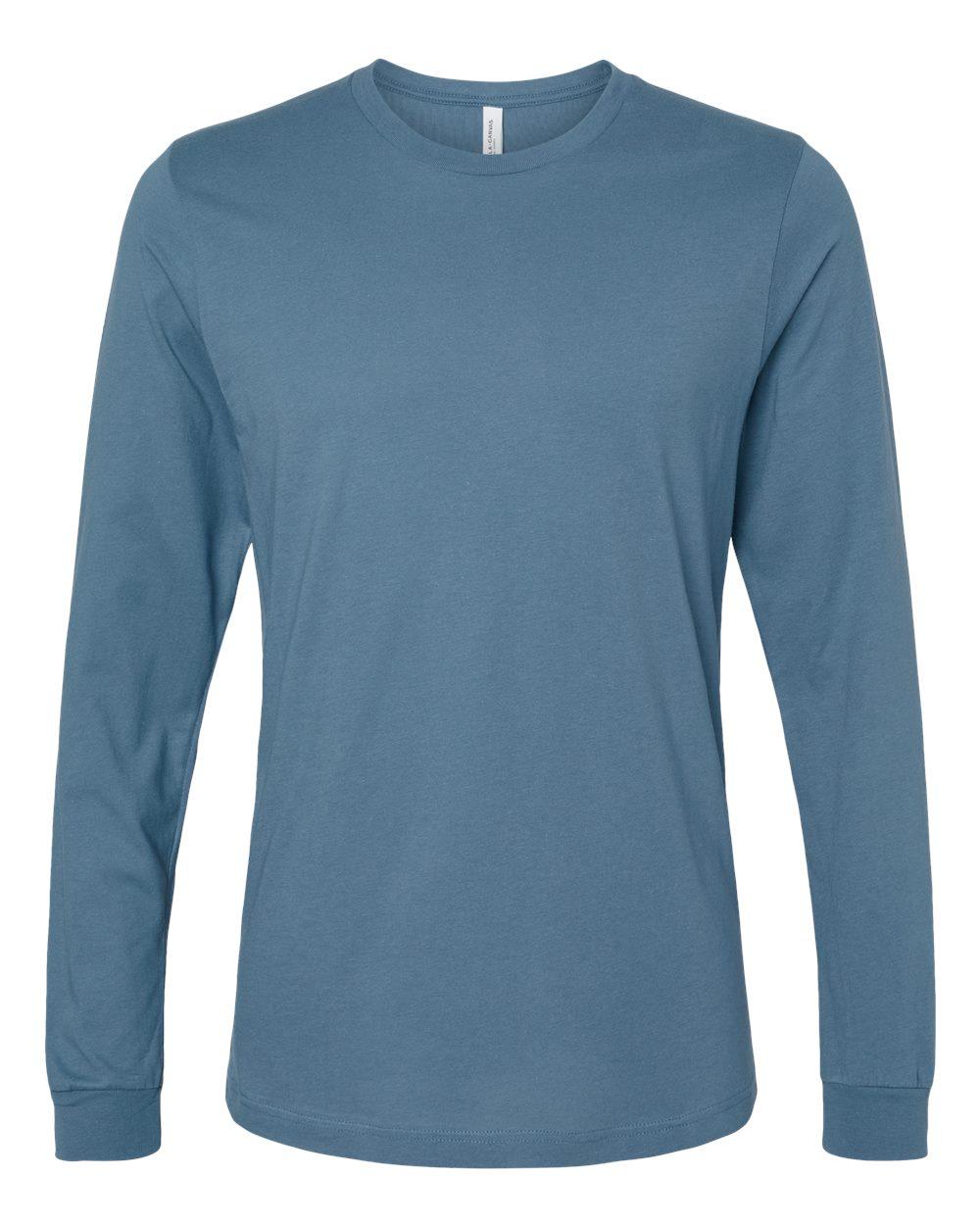 Bella-Canvas-Mens-Blank-Top-Long-Sleeve-Jersey-Tee-T-Shirt-3501-up-to-3XL thumbnail 55