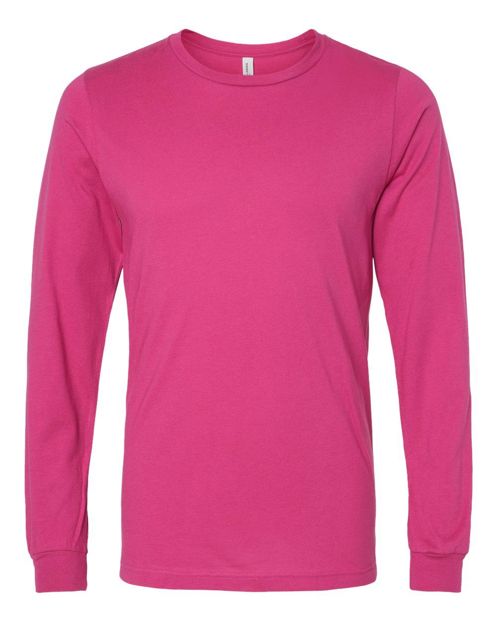 Bella-Canvas-Mens-Blank-Top-Long-Sleeve-Jersey-Tee-T-Shirt-3501-up-to-3XL thumbnail 21