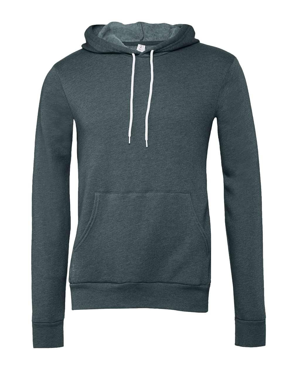 Bella-Canvas-Unisex-Sponge-Hooded-Pullover-Sweatshirt-Blank-3719-up-to-2XL thumbnail 60