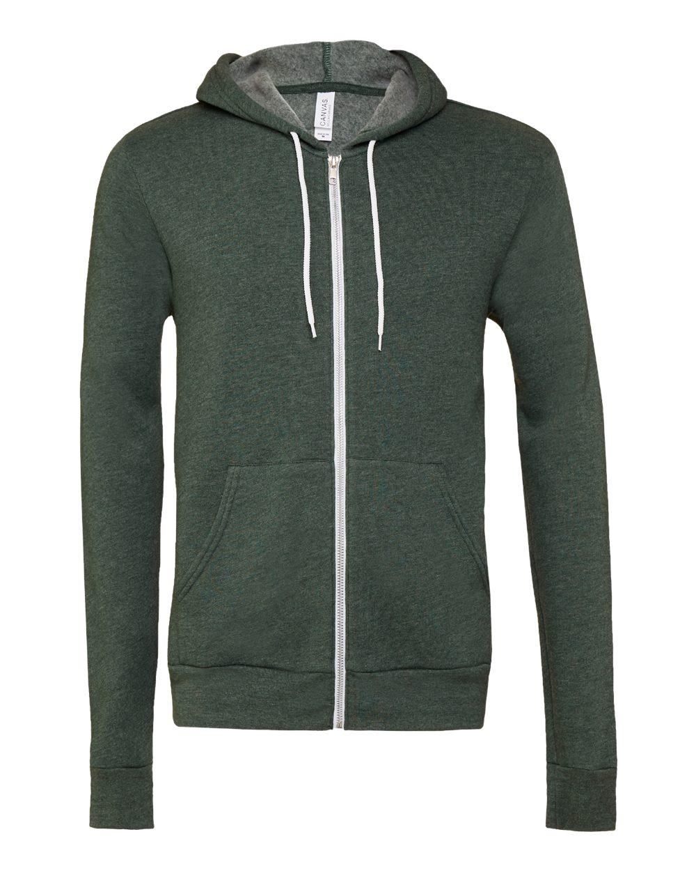 Bella-Canvas-Unisex-Full-Zip-Up-Hooded-Sweatshirt-Blank-Hoodie-3739-up-to-3XL thumbnail 38