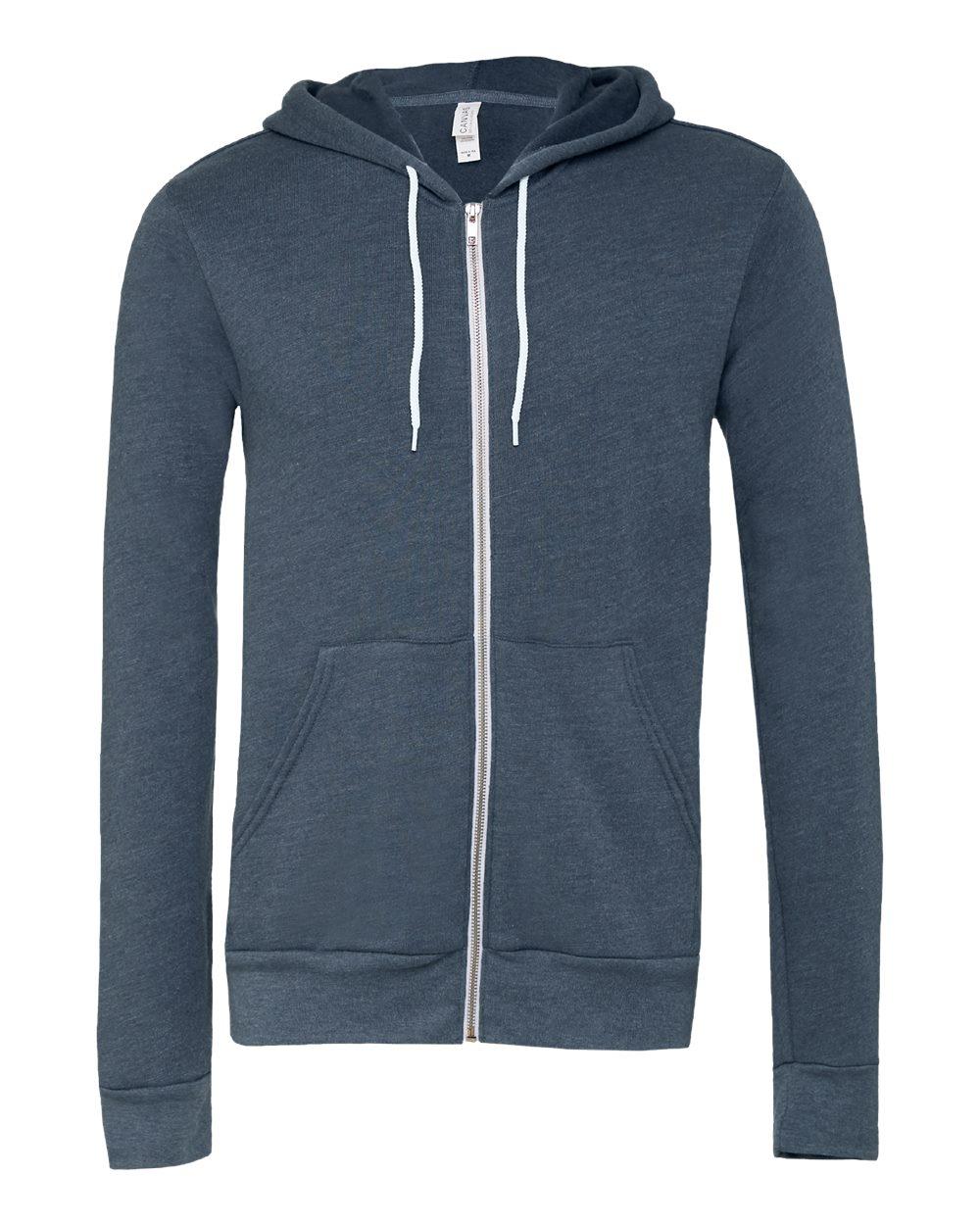Bella-Canvas-Unisex-Full-Zip-Up-Hooded-Sweatshirt-Blank-Hoodie-3739-up-to-3XL thumbnail 46
