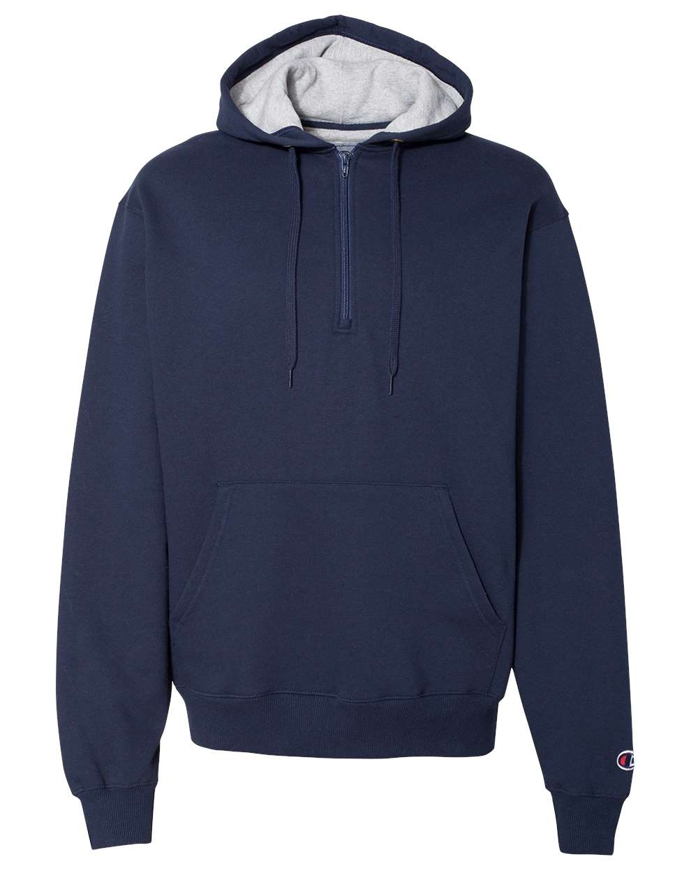 Champion-Mens-Cotton-Max-Hooded-Quarter-Zip-Sweatshirt-Pullover-S185-up-to-3XL miniature 15
