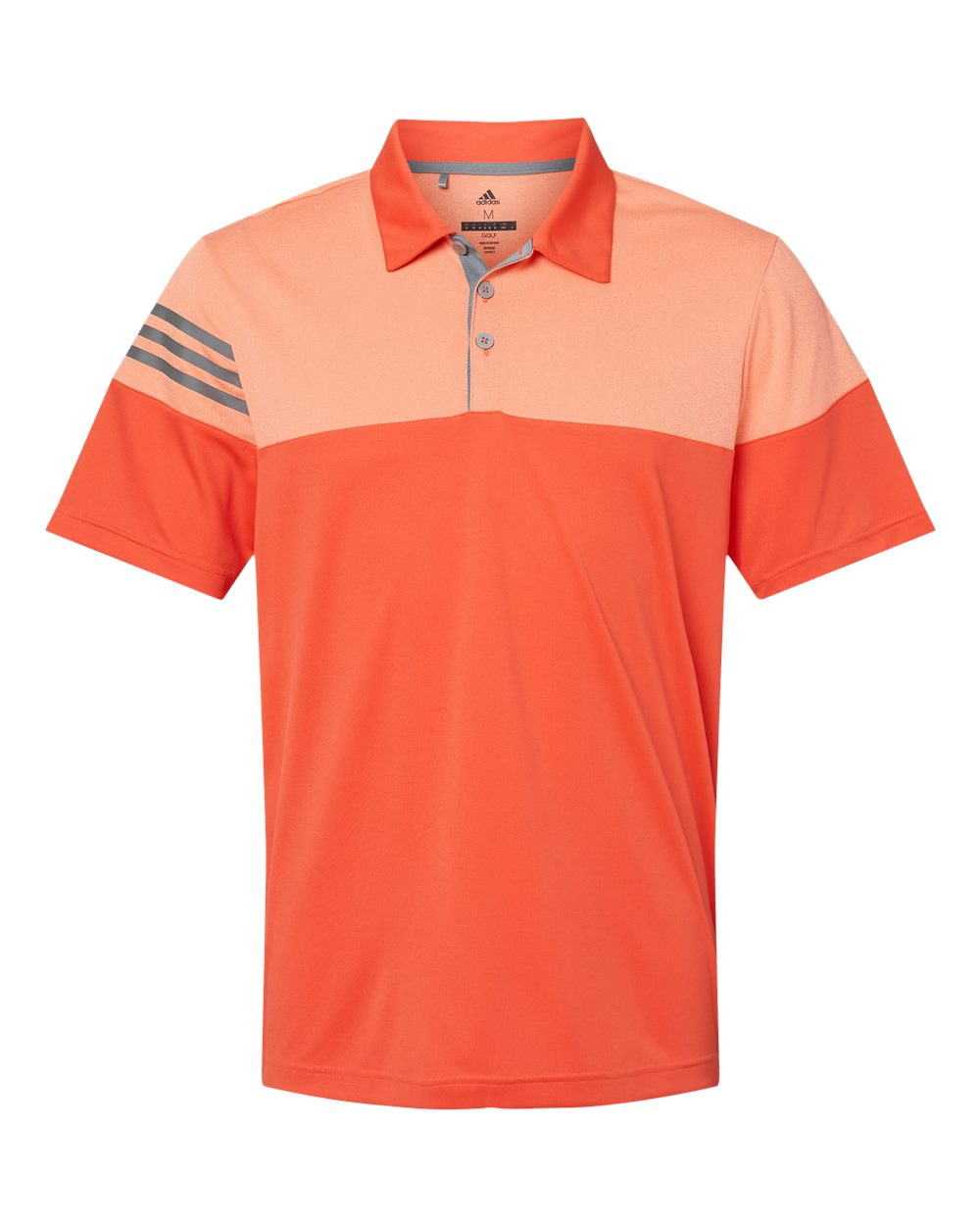 Adidas-Heather-3-Stripes-Block-Sport-Shirt-Polo-Button-A213-up-to-3XL thumbnail 9