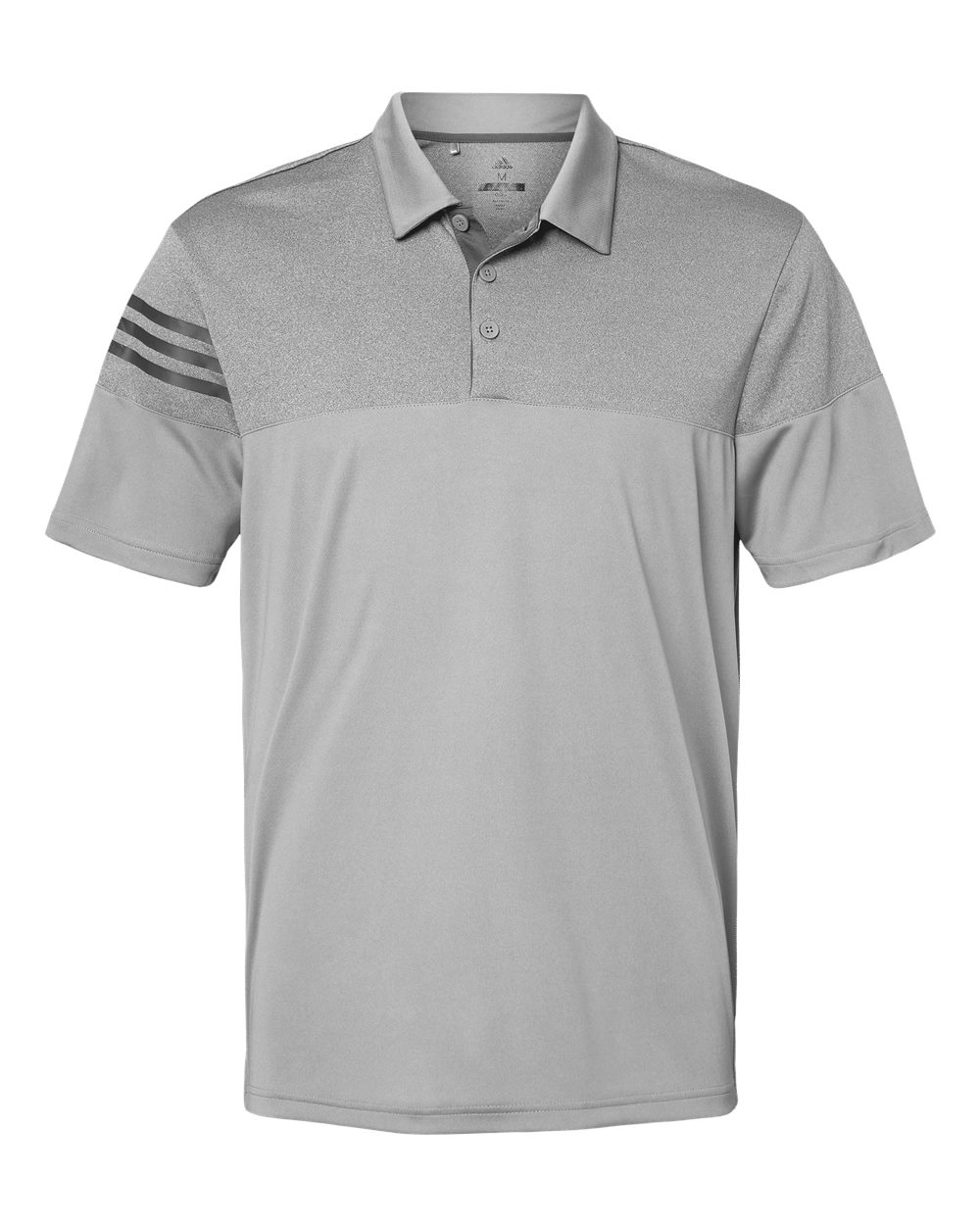 Adidas-Heather-3-Stripes-Block-Sport-Shirt-Polo-Button-A213-up-to-3XL thumbnail 21