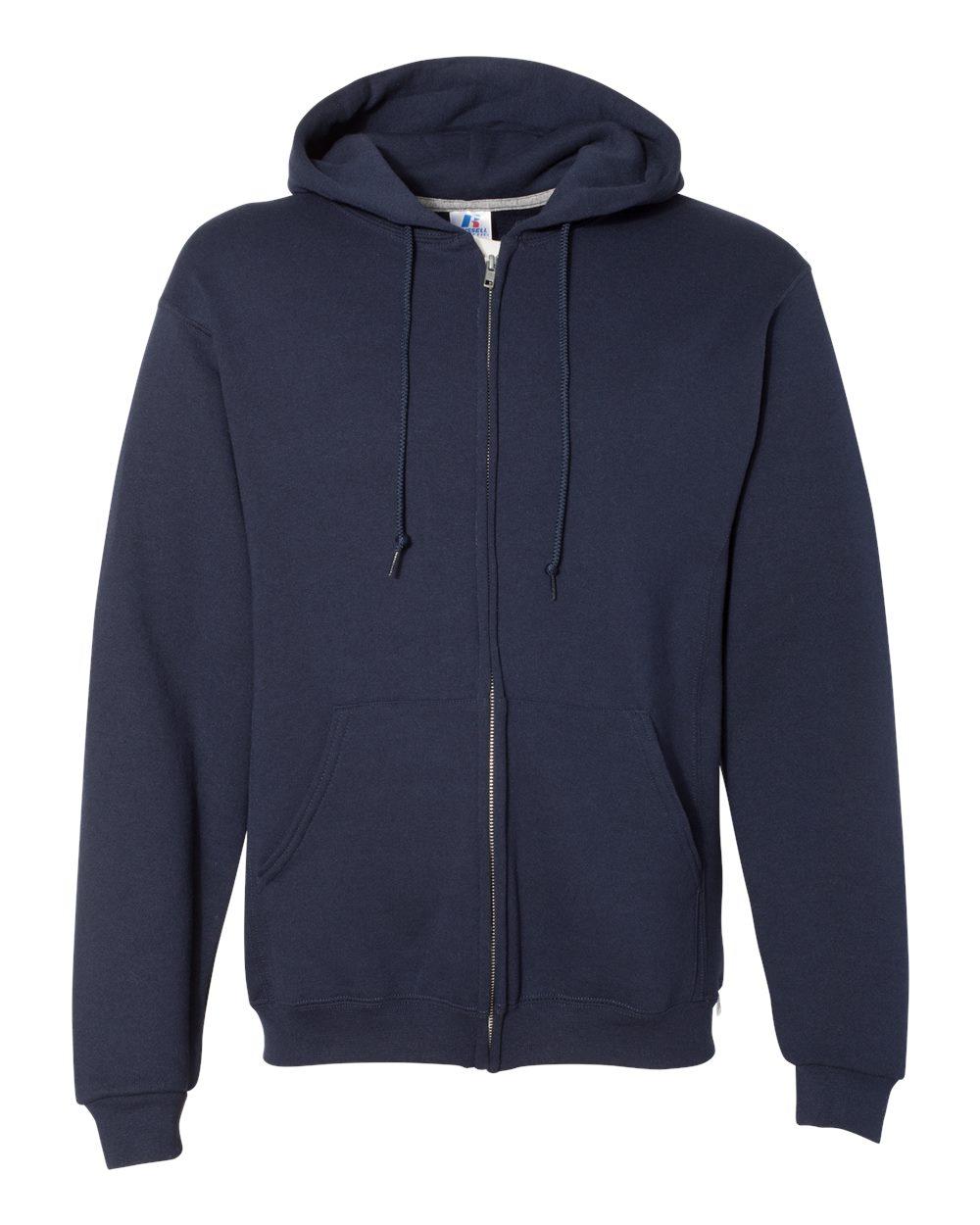 Russell-Athletic-Blank-Plain-Hooded-Full-Zip-Sweatshirt-697HBM-up-to-3XL thumbnail 9