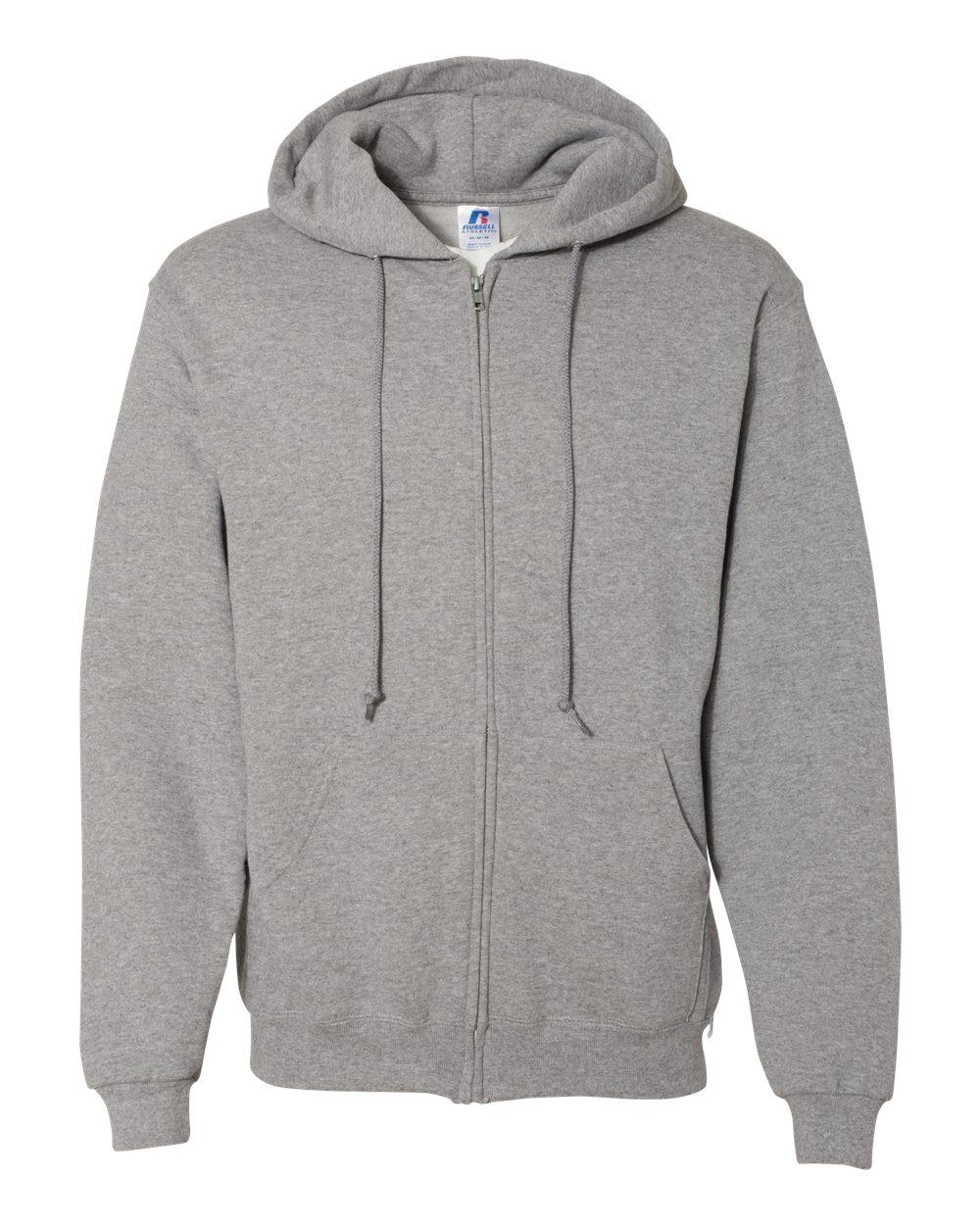 Russell-Athletic-Blank-Plain-Hooded-Full-Zip-Sweatshirt-697HBM-up-to-3XL thumbnail 12