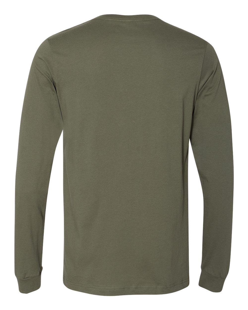 Bella-Canvas-Mens-Blank-Top-Long-Sleeve-Jersey-Tee-T-Shirt-3501-up-to-3XL thumbnail 83