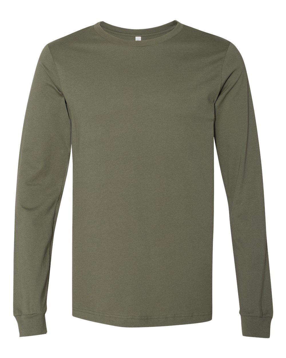 Bella-Canvas-Mens-Blank-Top-Long-Sleeve-Jersey-Tee-T-Shirt-3501-up-to-3XL thumbnail 82