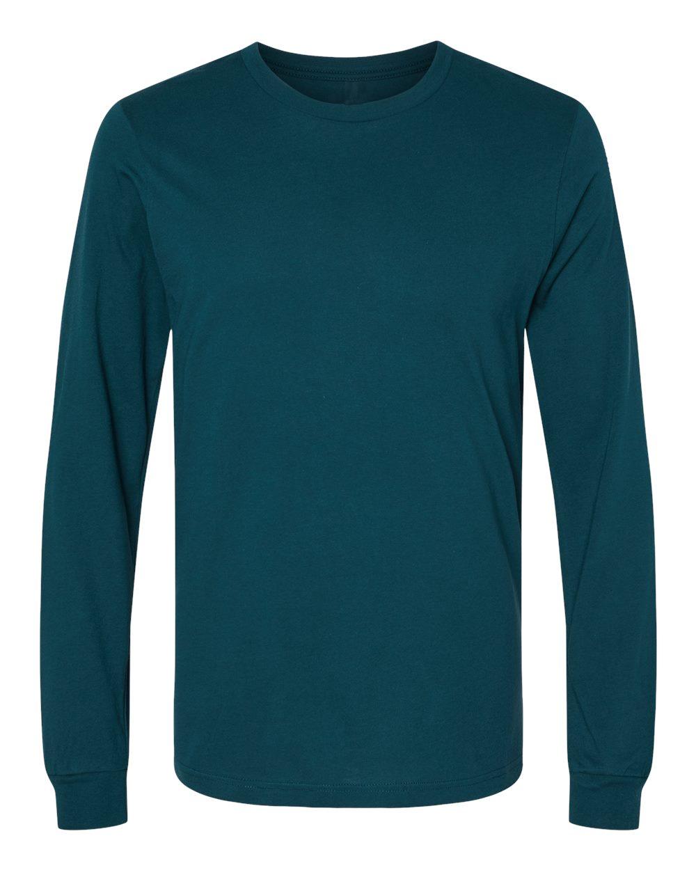 Bella-Canvas-Mens-Blank-Top-Long-Sleeve-Jersey-Tee-T-Shirt-3501-up-to-3XL thumbnail 12