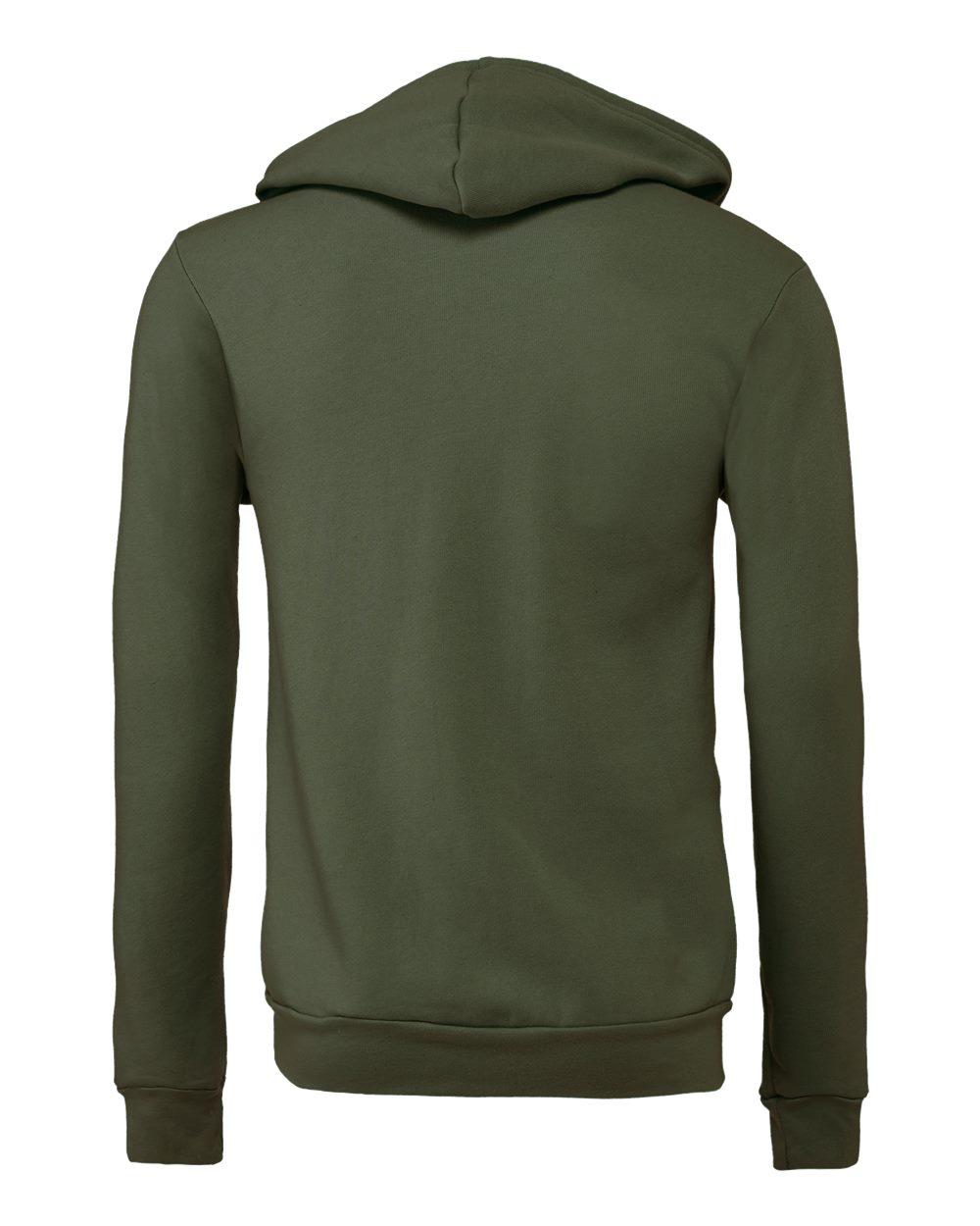 Bella-Canvas-Unisex-Full-Zip-Up-Hooded-Sweatshirt-Blank-Hoodie-3739-up-to-3XL thumbnail 72