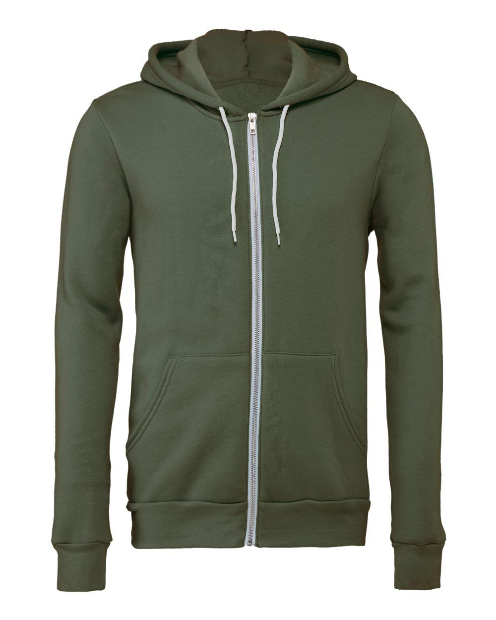 Bella-Canvas-Unisex-Full-Zip-Up-Hooded-Sweatshirt-Blank-Hoodie-3739-up-to-3XL thumbnail 71