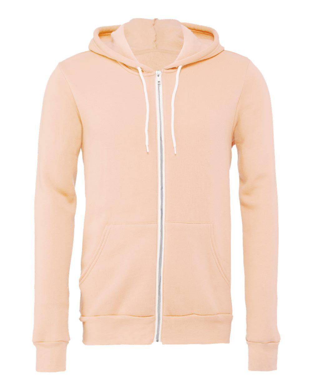 Bella-Canvas-Unisex-Full-Zip-Up-Hooded-Sweatshirt-Blank-Hoodie-3739-up-to-3XL thumbnail 77