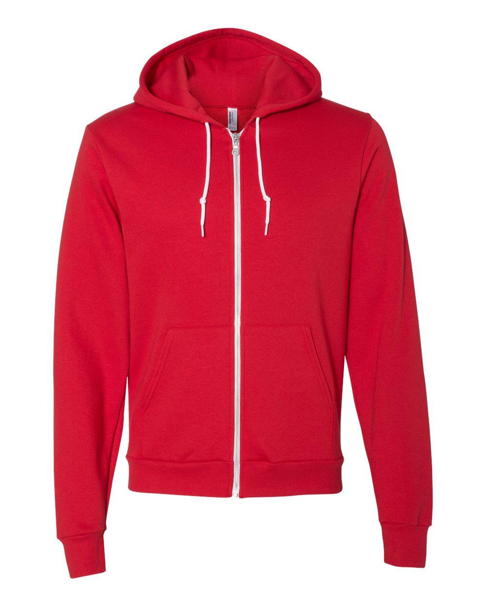 American-Apparel-Flex-Fleece-Unisex-Full-Zip-Hoodie-Blank-F497W-up-to-3XL thumbnail 12