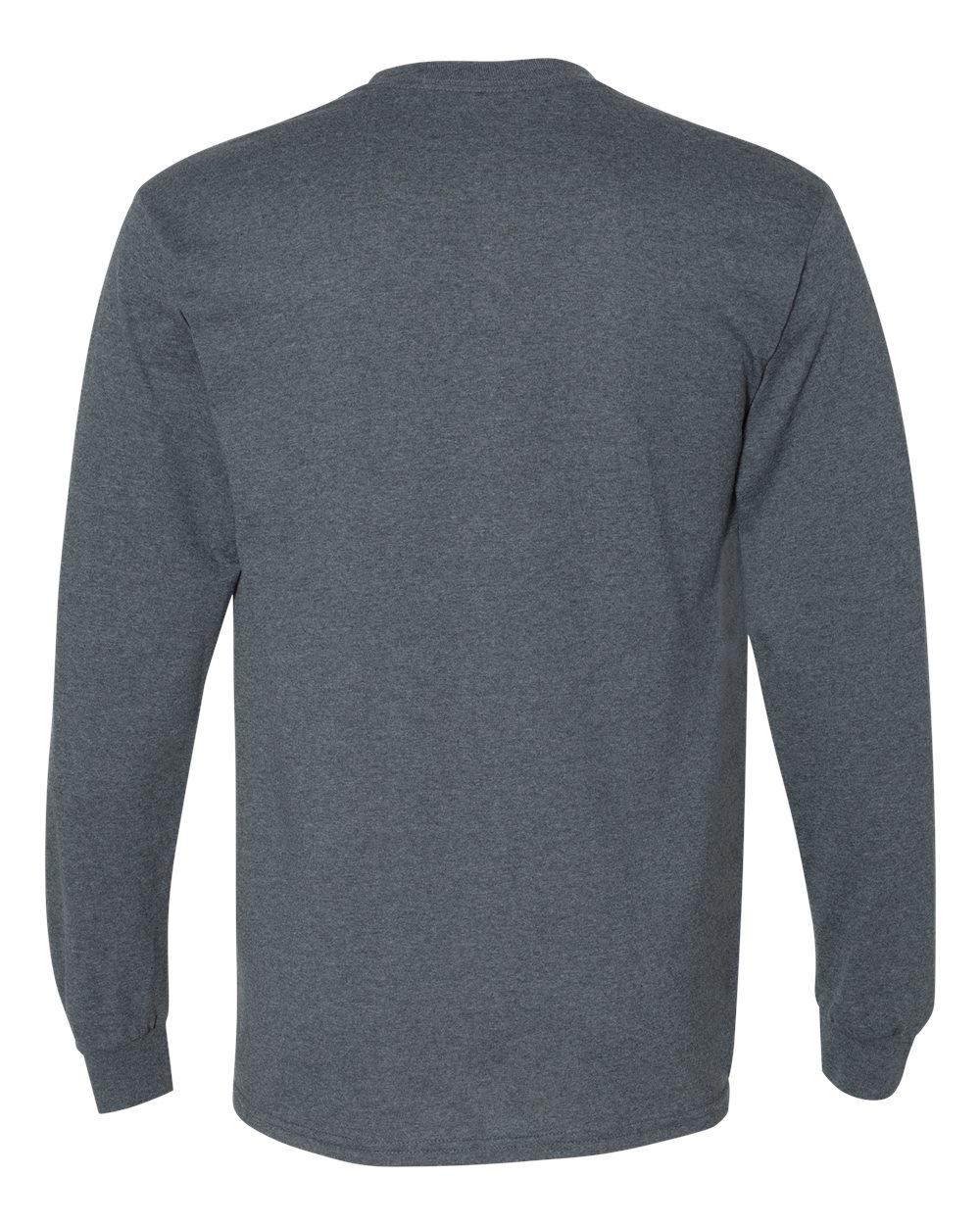 Gildan-Mens-Blank-DryBlend-50-50-Cotton-Long-Sleeve-T-Shirt-8400-up-to-3XL miniature 16