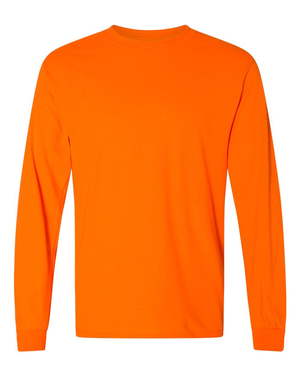 Gildan-Mens-Blank-DryBlend-50-50-Cotton-Long-Sleeve-T-Shirt-8400-up-to-3XL miniature 42