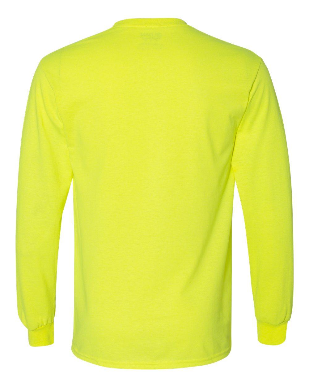 Gildan-Mens-Blank-DryBlend-50-50-Cotton-Long-Sleeve-T-Shirt-8400-up-to-3XL miniature 40