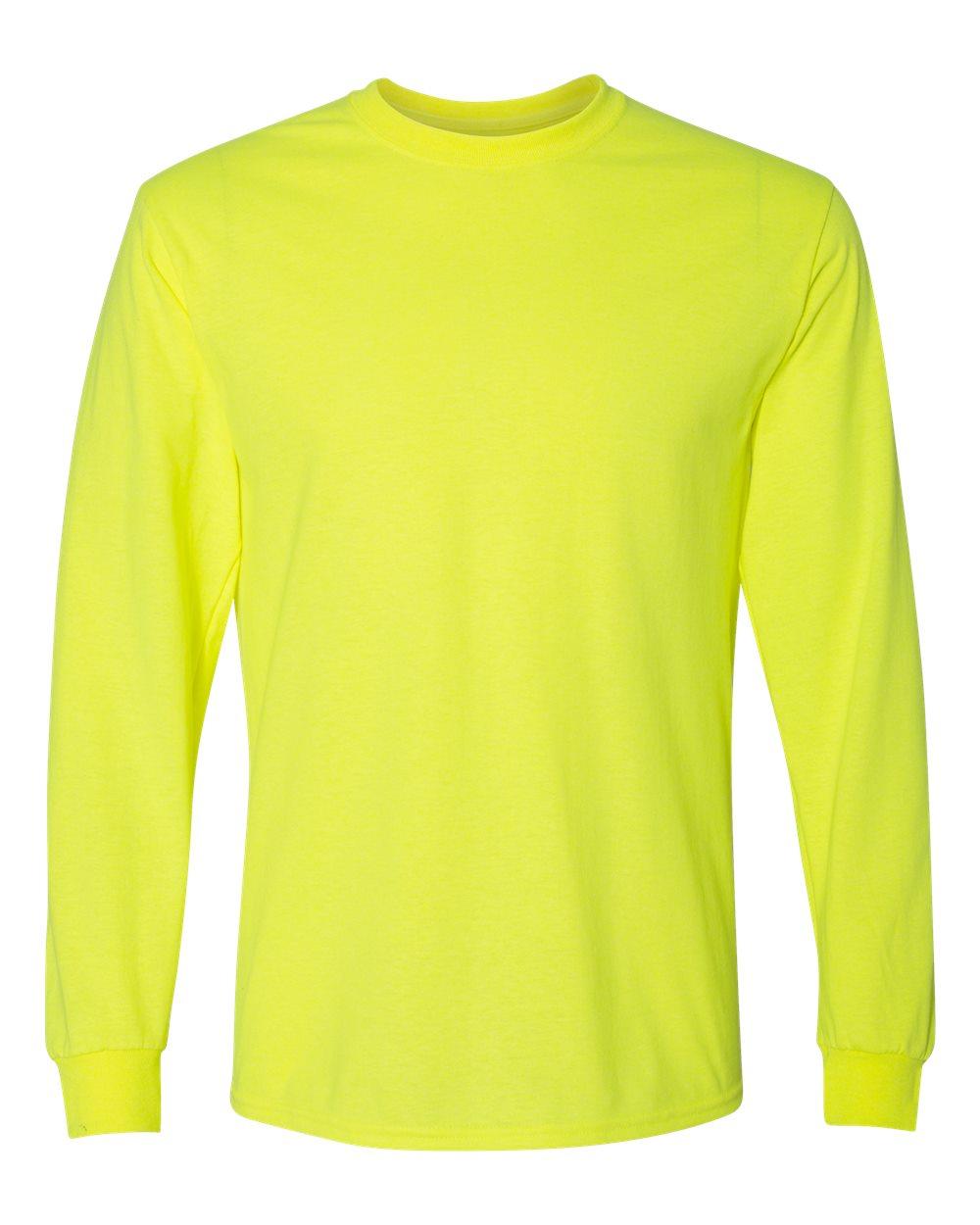 Gildan-Mens-Blank-DryBlend-50-50-Cotton-Long-Sleeve-T-Shirt-8400-up-to-3XL miniature 39
