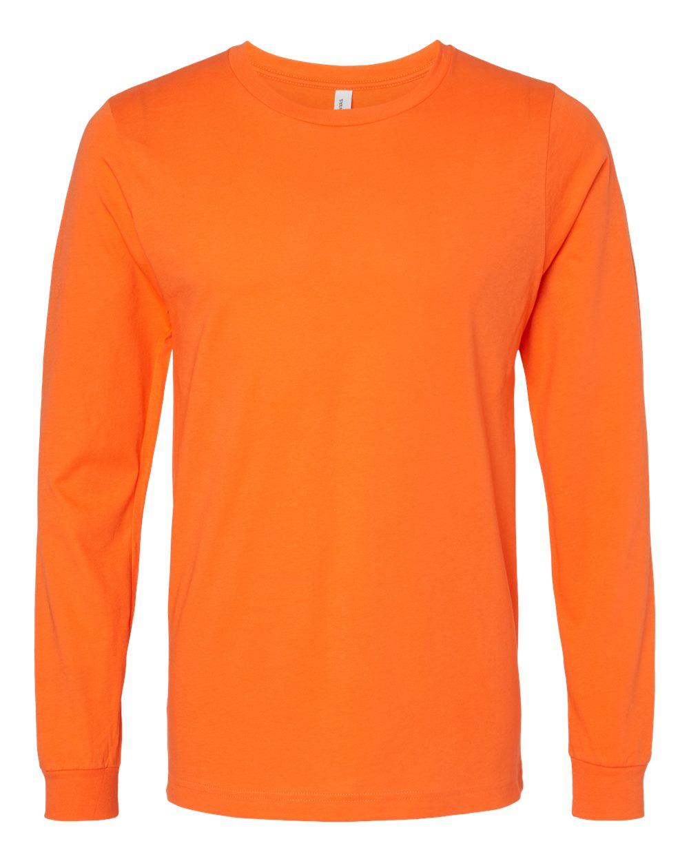 Bella-Canvas-Mens-Blank-Top-Long-Sleeve-Jersey-Tee-T-Shirt-3501-up-to-3XL thumbnail 46