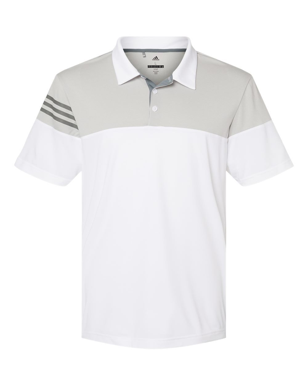 Adidas-Heather-3-Stripes-Block-Sport-Shirt-Polo-Button-A213-up-to-3XL thumbnail 27