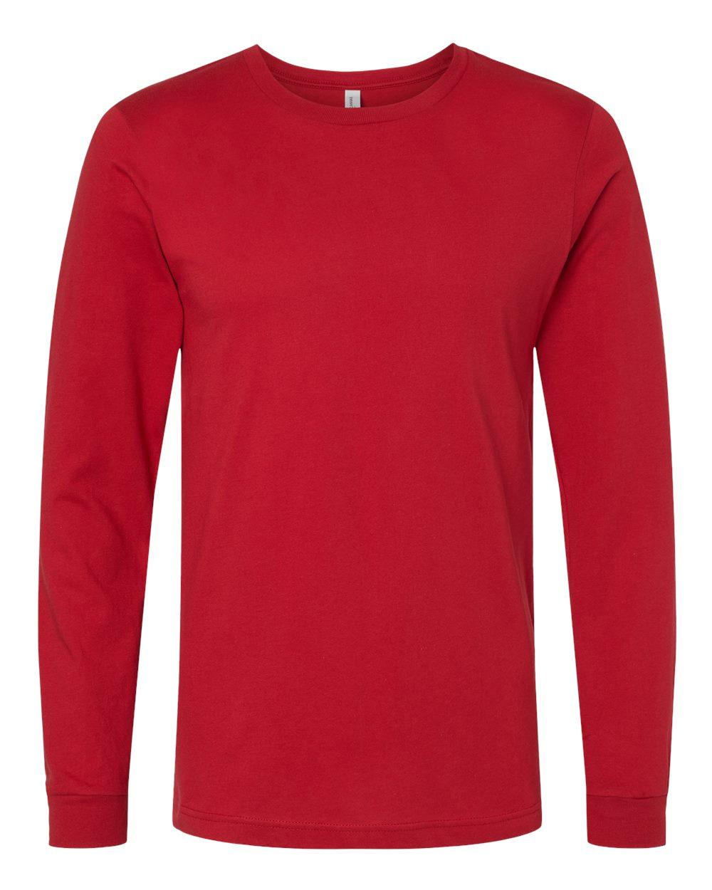 Bella-Canvas-Mens-Blank-Top-Long-Sleeve-Jersey-Tee-T-Shirt-3501-up-to-3XL thumbnail 24