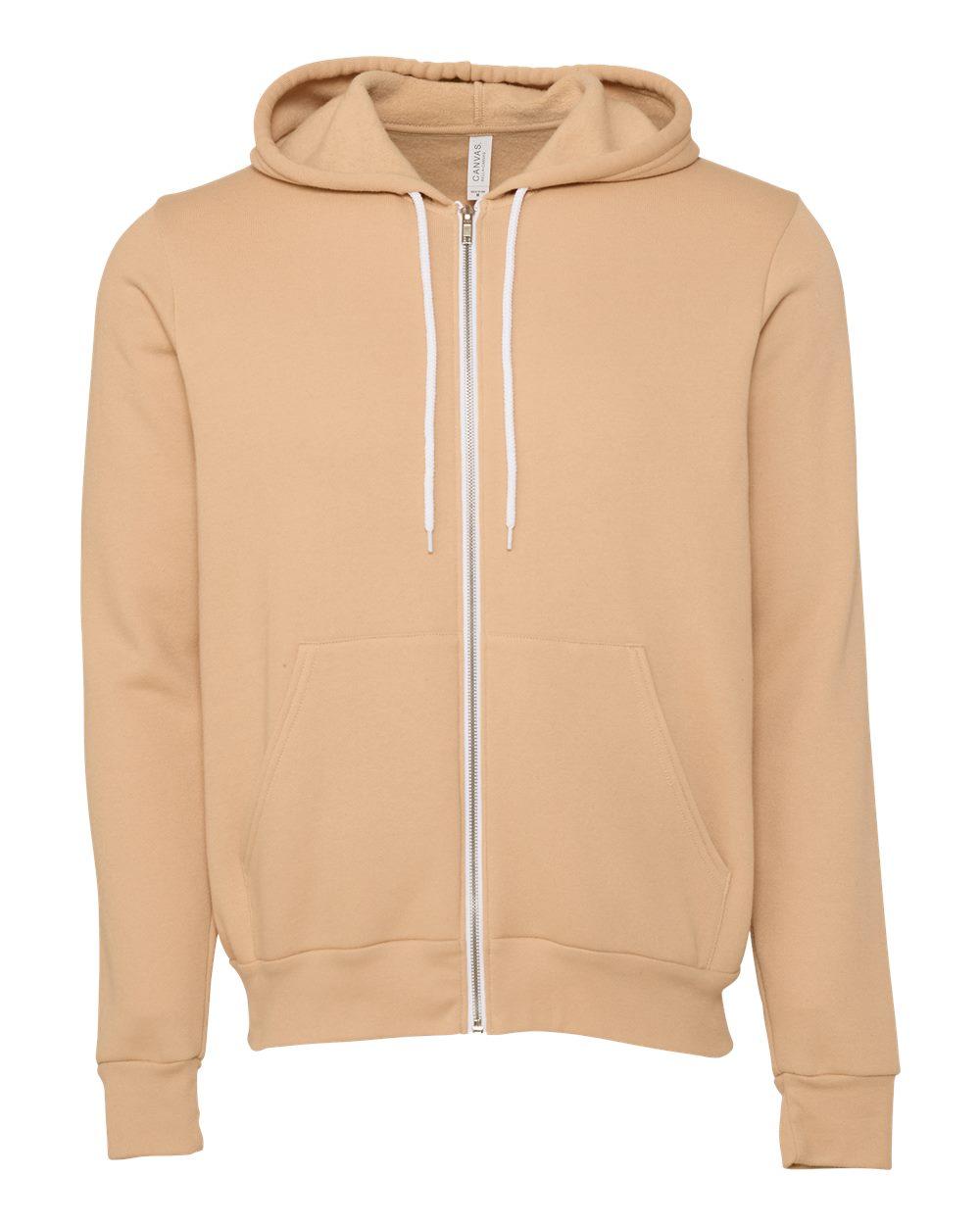 Bella-Canvas-Unisex-Full-Zip-Up-Hooded-Sweatshirt-Blank-Hoodie-3739-up-to-3XL thumbnail 51