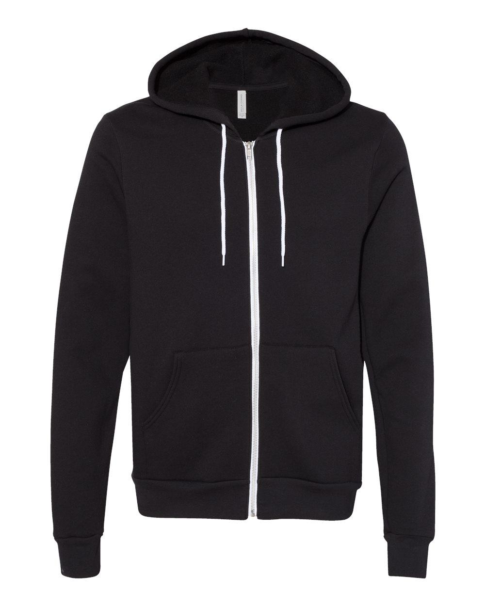 Bella-Canvas-Unisex-Full-Zip-Up-Hooded-Sweatshirt-Blank-Hoodie-3739-up-to-3XL thumbnail 24