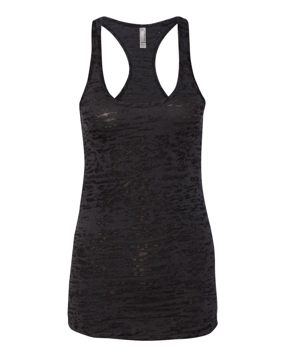 Next Level Women's Burnout Racerback Tank Top Shirt Blank
